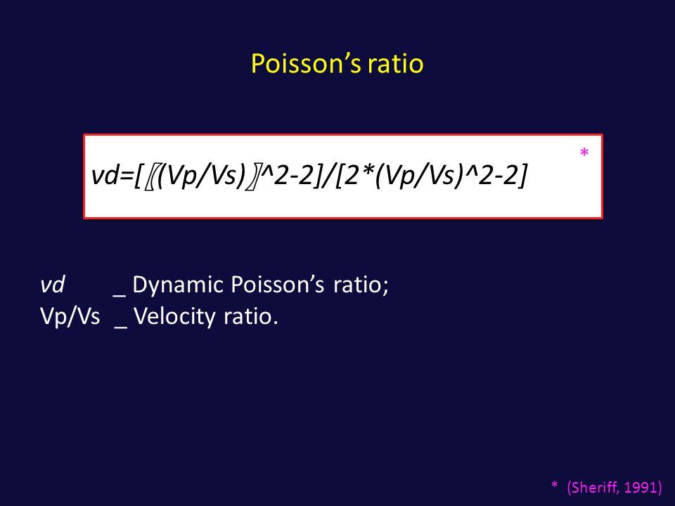 νd=[〖(Vp/Vs)〗^2-2]/[2*(Vp/Vs)^2-2]